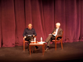 Paul Auster (left) and J.M. Coetzee are sharing their soon to be published collection of the letters between them. Photo by So Hyeun Casey Cho