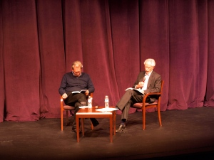 Paul Auster (left) and J.M. Coetzee are sharing their soon to be published collection of the letters between them.Photo by So Hyeun Casey Cho