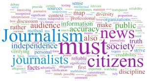 Words that are related to journalism
